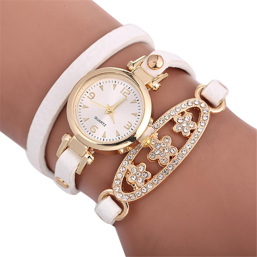 Top Brand Luxury Women Lady Watch Analog Quartz Alloy Diamond Bracelet Wrist Watch Montre Femme  Watch For Womens Watches 40#