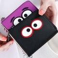 Black Eye Wallets Tassel Short Coin Purses Candy Color Cartoon Wallet For Girls Card Holder Money Bag 2016 Portefeuille Femme