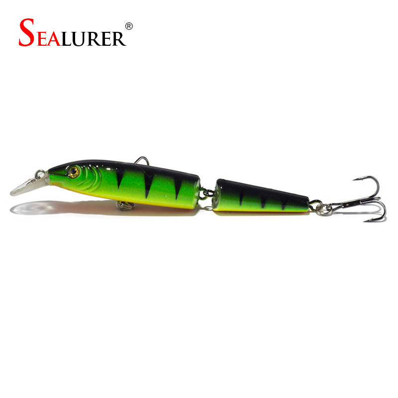 Sealurer Brand Laser 2 Sections Fishing Lure 10CM 9.4G Pesca Hooks Wobbler Artificial Minnow Hard Bait Crankbait Tackle 5 Colors sealurer brand big wobbler fishing lures sea trolling minnow artificial bait carp peche crankbait pesca jerkbait