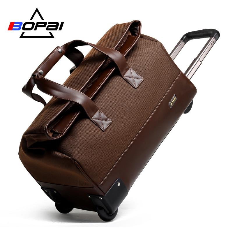 97680844aa Unisex Trolley Travel Bags On Wheels Waterproof men s trolley luggage travel  duffle bag 2017 maletas de viaje con ruedas-in Travel Bags from Luggage    Bags ...