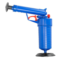 Home High Pressure Air Drain Blaster Pressure Pump Cleaner Unclogs Toilet Hand Powered Plunger Set Drop Shipping