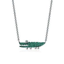 2018 Europe New Fashion Zircon Green Crocodile Necklace Female Jewelry zk40