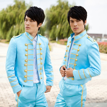 Free shipping !!! 2015 New men's court suit fitted wedding dress and groom tide stage costumes / M-XL