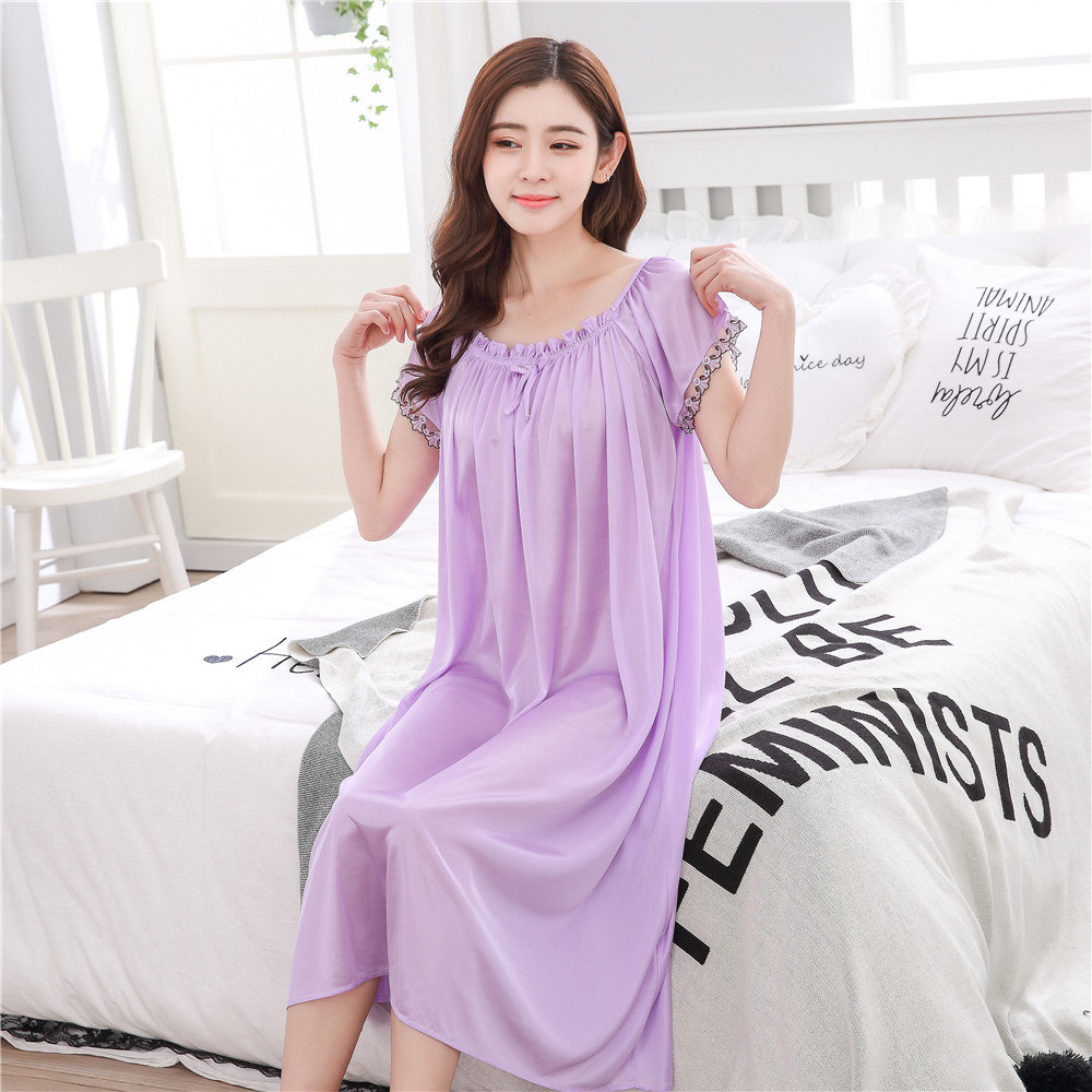 2018 Sexy Nightwear Dress Luxury Nightgown Women Casual Night Dress Ladies Home Dressing Hot Women Night Gowns Sleepwear