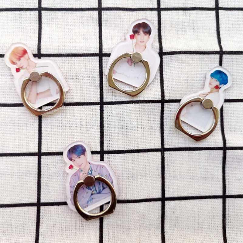 Высокое качество Bangtan обувь для мальчиков регулируемый держатель телефона белый день JK V RM кольцо-держатель для пальца Универсальный