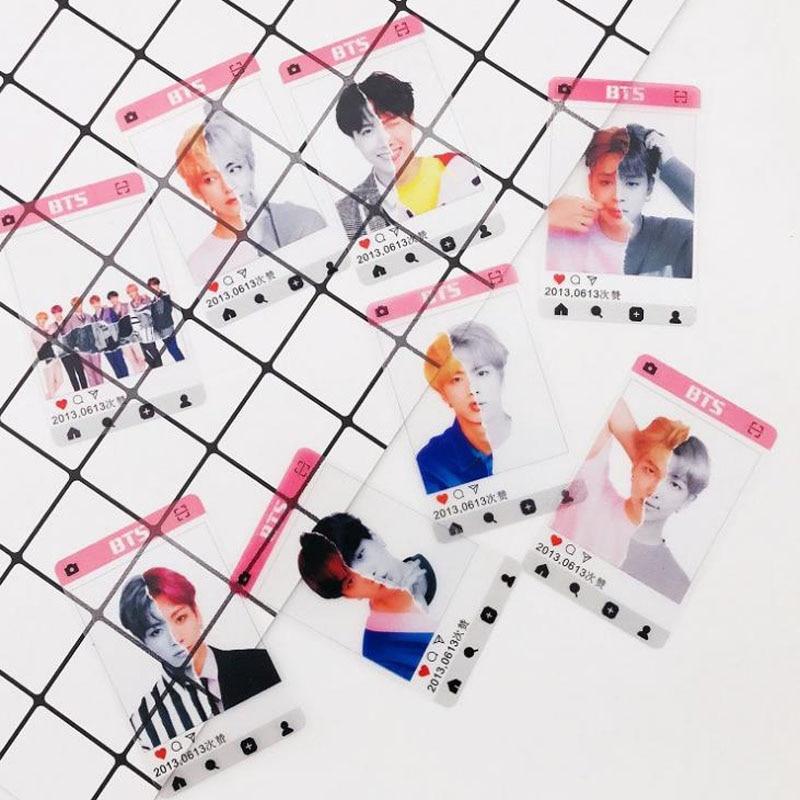 Office & School Supplies 8pcs/set Kawaii Kpop Bts Bangtan Boys Album Transparent Photo Card Pvc Cards Self Made Lomo Card Photocard Strengthening Sinews And Bones Calendars, Planners & Cards