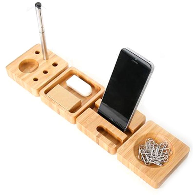 4 unids set madera creativa papeler a sets de escritorio - Accesorios para escritorio ...