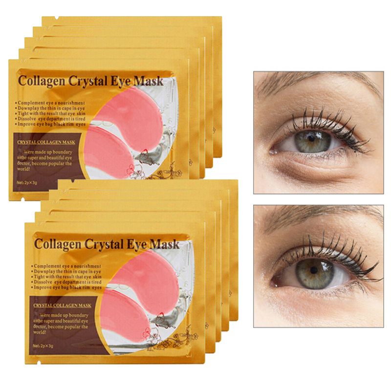 10 16pcs Collagen Eye Mask Pad Anti Wrinkle Eye Patches for the Eyes Dark Circles Remover Sheet Masks Face Mask Serum in Creams from Beauty Health