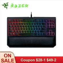 لوحة مفاتيح ألعاب ميكانيكية Razer BlackWidow إصدار البطولة Chroma V2 إضاءة خلفية RGB 87 مفتاح لوحة مفاتيح أصفر مريح
