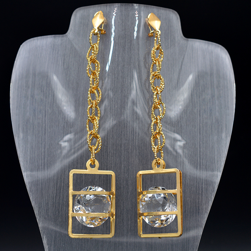 Sunny Jewelry Fashion Jewelry 2018 Long Drop Dangle Earrings For Women High Quality Zircon Square Heart For Party Wedding Daily sunny jewelry fashion jewelry 2018 long drop dangle earrings for women exquisite jewelry zircon cocktail for wedding party daily