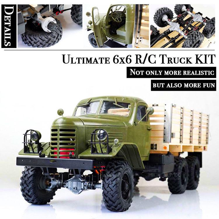 Kingkong 1/12 Escala CA30/ZISL-151 6x6 Soviético Caminhão com Chassi De Metal Conjunto KIT RC Carro de Escalada