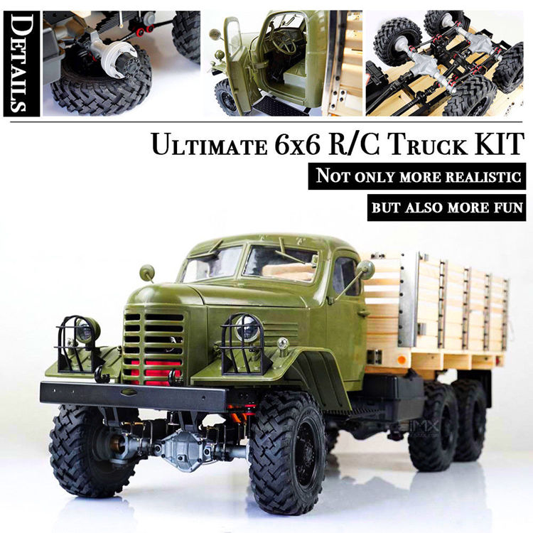 Kingkong 1/12 Scale CA30/ZISL-151 6x6 Soviet Truck with Metal Chassis KIT Set RC Climbing Car