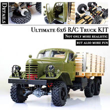 Kingkong 1/12 Scale CA30/ZISL-151 6×6 Soviet Truck with Metal Chassis KIT Set RC Climbing Car