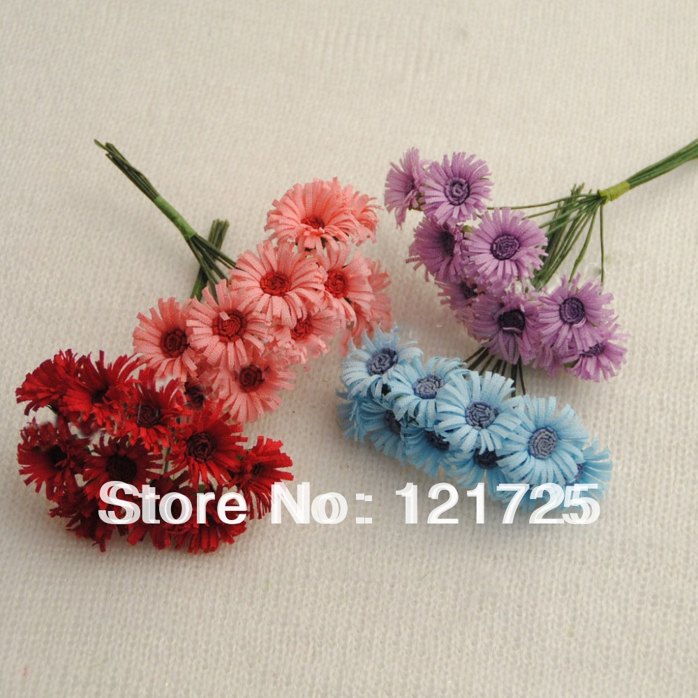Free Shipping 4 Colors Fabric Daisy Flowers Home Decoration Mini ...