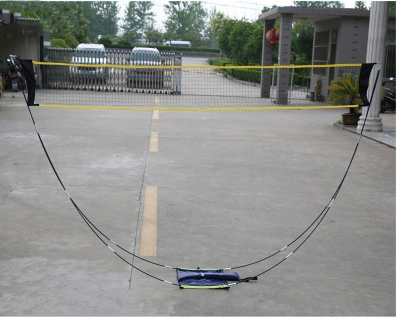Portable Badminton Net Frame Professional Volleyball Training Square Mesh Tennis Badminton Square Net 3Meter Shuttlecock Network