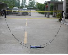 Portable Badminton Net Frame Professional Volleyball Training Square Mesh Tennis Badminton Square Net 3Meter Shuttlecock Network(China)