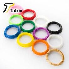 For 3D Printing Pen Printer Supplies PLA 1.75 3D Printer Filament 3.5M 10 Roll/Lot Total 35M 10 Colors No Bubbles Good Mobility