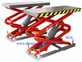 Hydraulic Scissor Car  Lift  With Rubber Pads For Protection SXJS3018