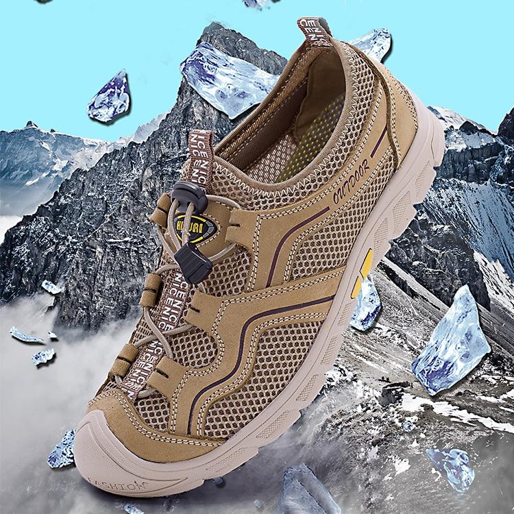 Chaussures pour hommes respirantes d'été mode chaussures à lacets élastiques de haute qualité en cuir confortable + chaussures d'été en maille pour homme baskets p4