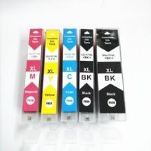 Vilaxh 5pcs PGI-270 CLI-271 compatible ink cartridge For Canon MG5720  MG5721 MG5722 MG6820 MG6821 MG6822 MG7720 printer стоимость