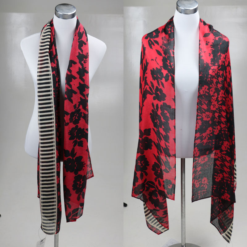New Fashionable Bandana Red Printing Blanket Scarf Skyour Luxury Brand Burderry Scarf Women Long Winter Scarves BL-0021