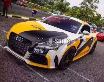 Elite Yellow Jumbo Camouflage Vinyl Car Wrap Film Bubble Free For Car RACING JEEP SUV TRUCK