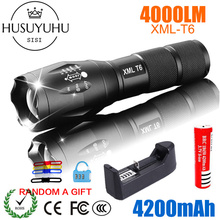 LED Rechargeable Flashlight Pocketman XML T6 linterna torch 4000 lumens 18650 Battery Outdoor Camping Powerful Led Flashlight panyue led rechargeable flashlight xml t6 torch 1000 lumens 18650 battery outdoor camping powerful led flashlight