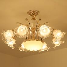 European ceiling lamp crystal living room chandelier flower bedroom dining warm romantic