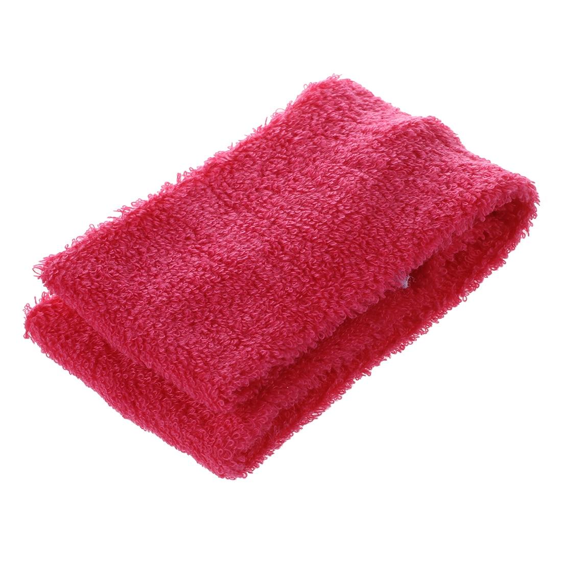 Unisex Women Men Sport Yoga Sweatband Headband Hair Band, Rose Red