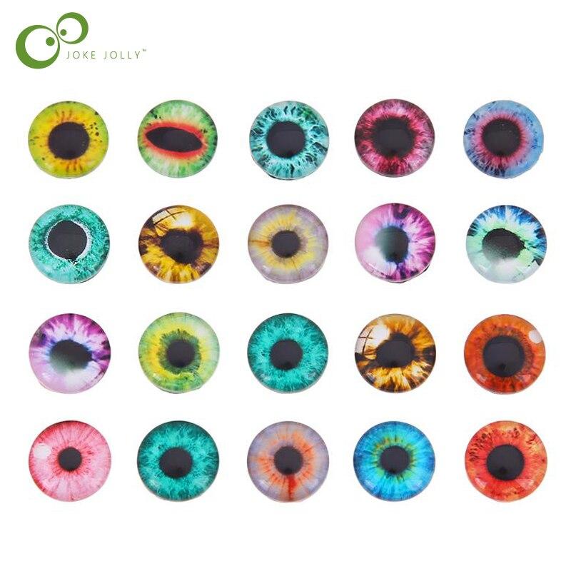 20MM Haayward 20Pcs Glass Dolls Safety Eye Making DIY Handcraft Animal Eyes Jewelry Accessories 10//16//20mm