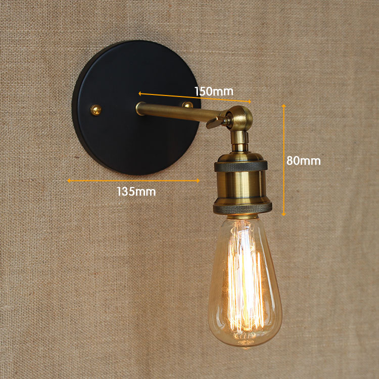 Vintage Wall Lamp Retro Antique Bronze Metal Sconce Bedroom Bedside Mounted Lighting Edison Bulb Light Fixture In Lamps From Lights