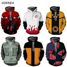 fea6a7a6a4 Anime Hokage Ninjia Men hoodie Sweater Naruto Uzumak Long Sleeve Pullovers  Hooded Jacket Sweatshirt Cosplay Costumes