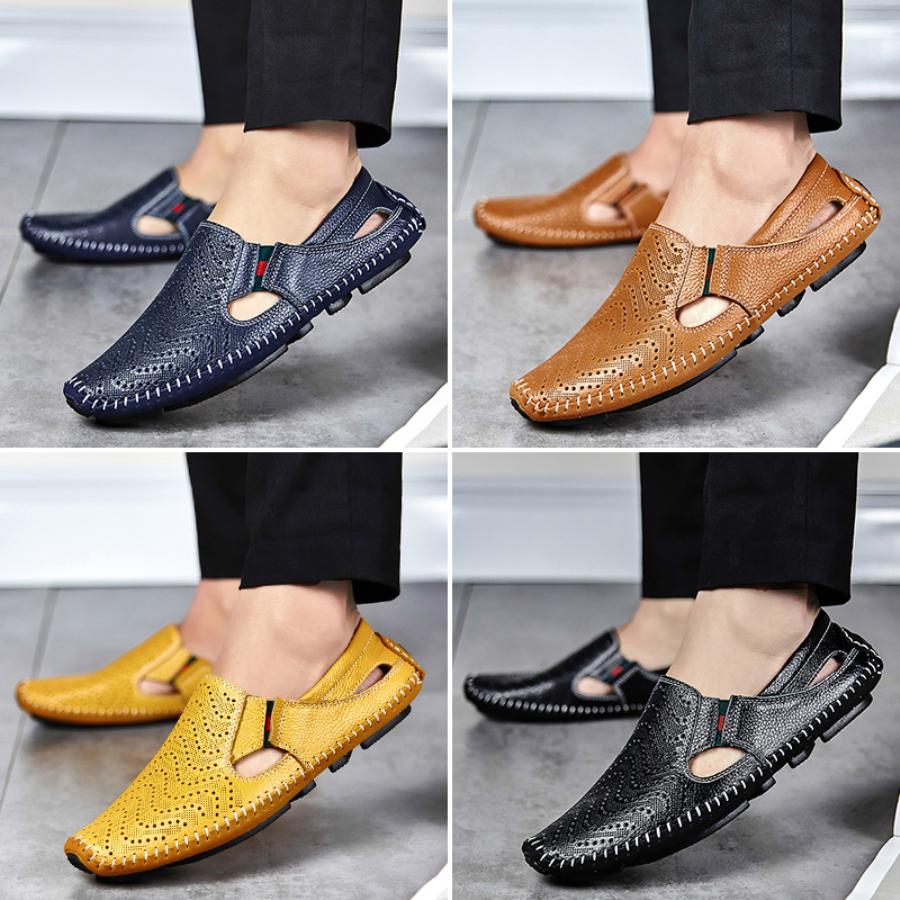 d4a45b987dd Detail Feedback Questions about Men Fashion Leather Sandals Plus ...