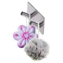 лучшая цена Stainless Steel Self-adhesive Wall Hook Door Back Hooks Clothes Hanger For Bathroom Kitchen