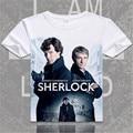 Шерлок холмс футболка доктор Джон Уотсон футболка Англия Лондон Бенедикт Камбербэтч моды майка для мужчин женщин