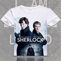 Camisa médico John Watson SherLock holmes t-shirt Benedict Cumberbatch Grã-bretanha Londres camisa da forma t para mulheres dos homens