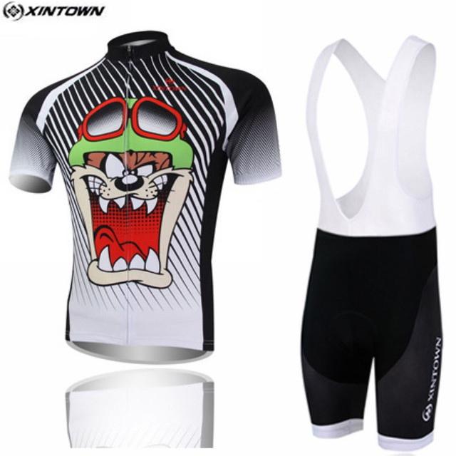 bb743def0 XINTOWN Black Bike Jersey Bib Shorts Sets Men mtb Bicycle Clothing Suit  Skull Gray Summer Male Ropa Ciclismo Cycling Shirt Green
