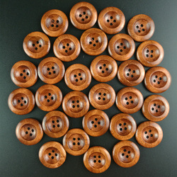 50 pcs 25mm 4 holes thin edge natural wood pattern sewing wood buttons natural wood craft decorative accessories