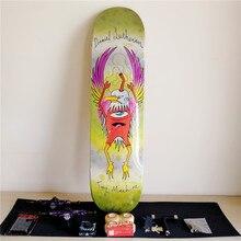 1 компл. про качество США укомплектованный скейтборд двухслойные 8 дюймов колеса для скейтборда и грузовиков двойной рокер скейтборд Запчасти