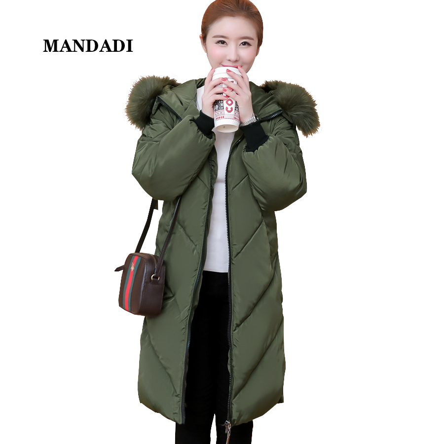 Winter jacket women 2017 Fur collar Hood Jacket Cotton Padded Parka Thicken Warm Winter coat women Outerwear Female Plus size women thicken warm winter coat hood parka plus size 5xl on sale red cotton padded jacket female ukraine fashion outwear autumn