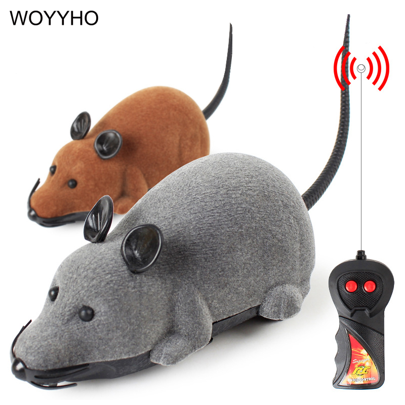 3 Colors RC Electronic Mice Cat Toys Wireless Remote ControlSimulation Plush Mouse Funny Interactive Rat Toy For Pet Kitten Cats
