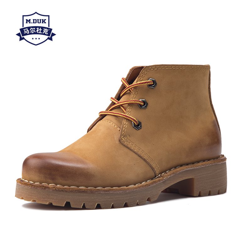 Martin boots mens Genuine Leather British fashion short boots men autumn winter British retro men dress boots male cowboy boots