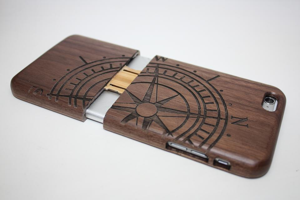 custodia legno iphone se