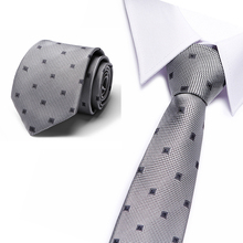 Tie Grey Black Geometric 2018 Classic Fashion Mens 100% Jacquard Woven Silk Ties For Men Formal Wedding Party Groom