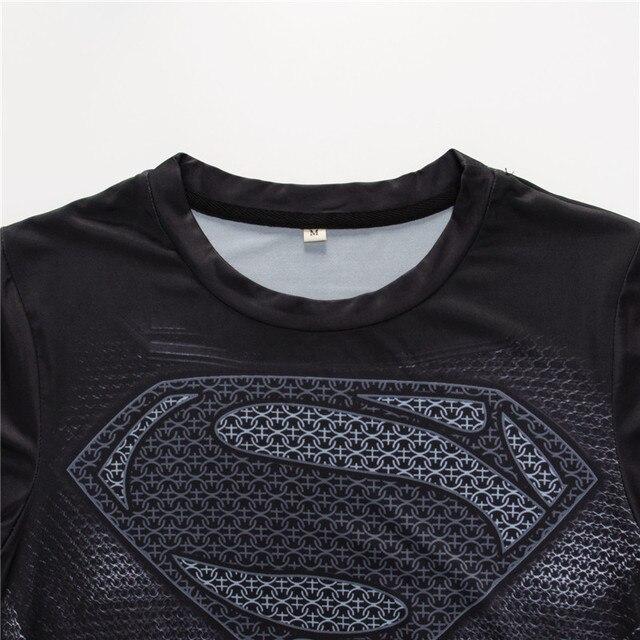 Superman Tshirts Men Compression Shirts Batman Tops The Flash T-shirts Fitness Crossfit Tees Bodybuilding camiseta rashguard 2