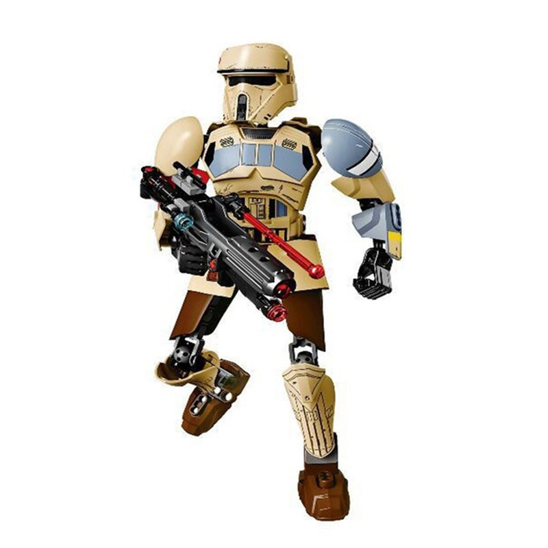 89pcs Star Wars Scarif Stormtrooper compatible With Lego 75523 Star Wars Buildable Figure Toy star wars taiko yaku stormtrooper 1 8 scale painted variant stormtrooper pvc action figure collectible model toy 17cm kt3256