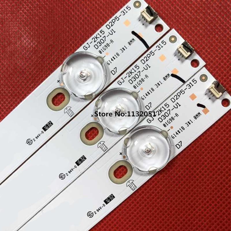 3pcs New Original LED StripsLED Back Light Strip GJ-2K15 D2P5-315 D307-V1.1 FOR 32
