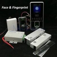 DIY Уход за кожей лица Система контроля доступа комплект выполненные Стекло двери Управление доступом комплект + сканер отпечатков пальцев д