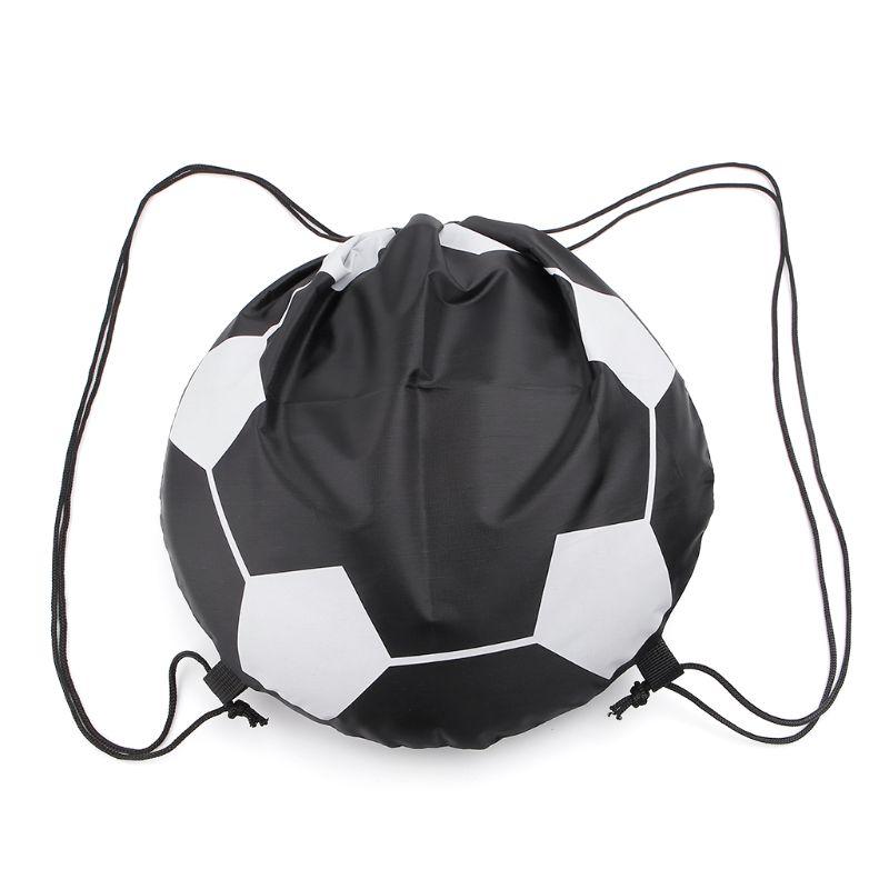 Outdoor Sport Carry Net Drawstring Bag Nylon Football Volleyball Basketball Bags
