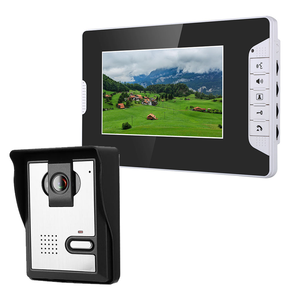 MOUNTAINONE 7 Inch Video Door Phone Doorbell Intercom Kit 1-camera 1-monitor Night Vision With 700TVL Camera